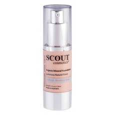 SCOUT Cosmetics Organic Healthy Glow Mineral Fluid Foundation - Shell