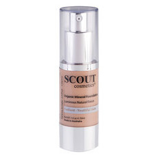 SCOUT Cosmetics Organic Healthy Glow Mineral Fluid Foundation - Camel