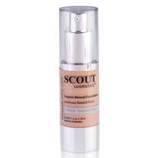 SCOUT Cosmetics Organic Healthy Glow Mineral Fluid Foundation - Caramel