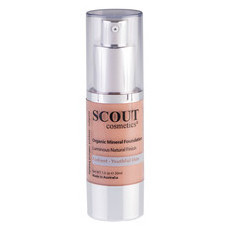 SCOUT Cosmetics Organic Healthy Glow Mineral Fluid Foundation - Almond