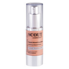SCOUT Cosmetics Organic Healthy Glow Mineral Fluid Foundation - Golden