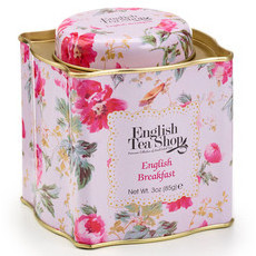 English Tea Shop - Loose Leaf Tea in Shabby Chic Tin - English Breakfast