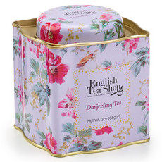 English Tea Shop - Loose Leaf Tea in Shabby Chic Tin - Darjeeling