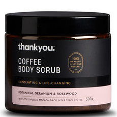 Thankyou Coffee Body Scrub - Geranium & Rosewood