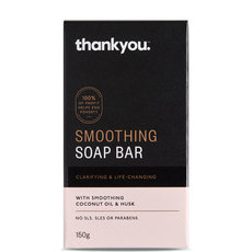 Thankyou Smoothing Soap Bar - with Coconut Oil & Husk