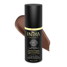 Inika Certified Organic Liquid Foundation with Hyaluronic Acid - Cocoa