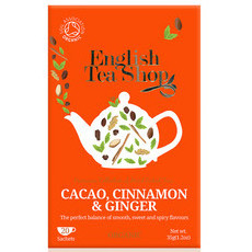 English Tea Shop Organic Tea Bags - Cacao, Cinnamon & Ginger