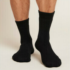 Boody Men's Work/Boot Socks - Black