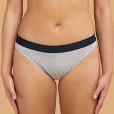 Thinx Cotton Bikini - Grey