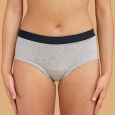 Thinx Cotton Brief - Grey