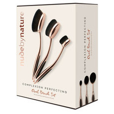 Nude By Nature Complexion Perfecting Oval Brush Set