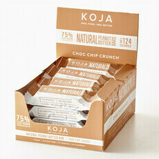 KOJA Natural Peanut Butter Bars - Choc Chip Crunch