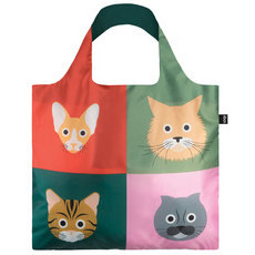 Loqi Shopping Bag - Cats & Dogs Collection - Cats