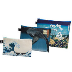 Loqi HOKUSAI, HIROSHIGE Zip Pockets (Set of 3)