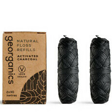 Georganics Natural Floss - Activated Charcoal REFILL PACK