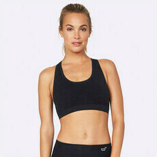 Boody Racerback Sports Bra - Black