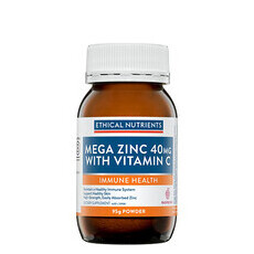 Ethical Nutrients Mega Zinc 40mg with Vitamin C - Powder
