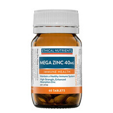 Ethical Nutrients Mega Zinc 40mg Tablets