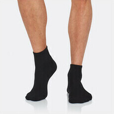 Boody Men's Quarter Crew Sports Socks - Black
