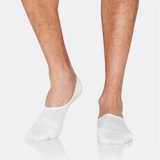 Boody Men's Hidden Socks - White