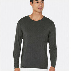 Boody Men's Long Sleeve Crew Neck T-Shirt - Dark Marl