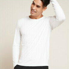Boody Men's Long Sleeve Crew Neck T-Shirt - White