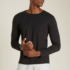 Boody Men's Long Sleeve Crew Neck T-Shirt - Black