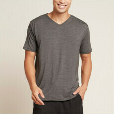 Boody Men's V-Neck T-Shirt - Dark Marl