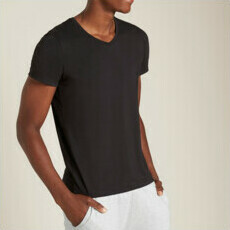 Boody Men's V-Neck T-Shirt - Black