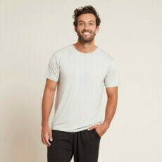 Boody Men's Crew Neck T-Shirt - Light Grey Marl