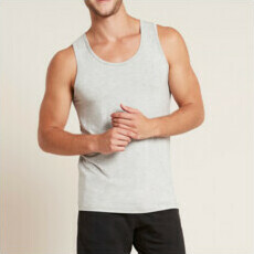 Boody Men's Singlet - Light Grey Marl