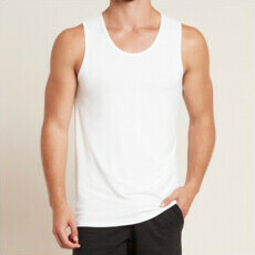 Boody Men's Singlet - White