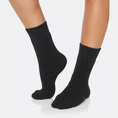 Boody Women's Crew Boot Socks - Black
