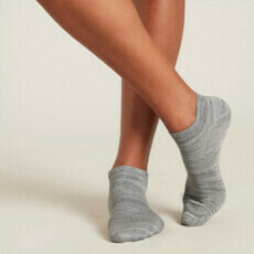 Boody Women's Low Cut Sock - Grey Space Dye