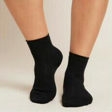 Boody Women's Everyday Ankle Socks - Black