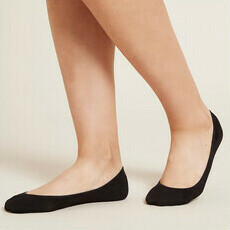 Boody Women's Low Hidden Socks - Black