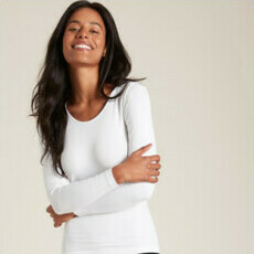 Boody Long Sleeve Top - White
