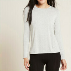 Boody Women's Long Sleeve Round Neck T-Shirt - Light Grey Marl
