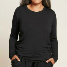 Boody Women's Long Sleeve Round Neck T-Shirt - Black