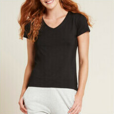 Boody Women's V-Neck T-Shirt - Black