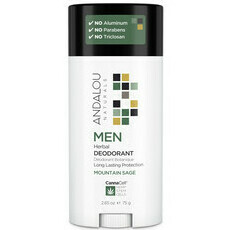 Andalou Naturals MEN Herbal Deodorant - MOUNTAIN SAGE