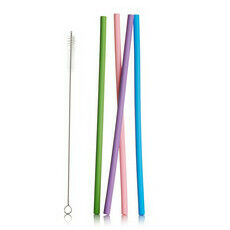 Life Basics Reusable Silicone Straws - Multi-Coloured