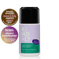 KIND-LY 100% Natural Deodorant - Lavender & Bergamot - 60ml