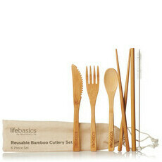Life Basics Reusable Bamboo Cutlery Set
