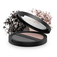 Inika Pressed Mineral Eyeshadow Duo - Black Sand