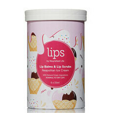 Lips by Nourished Life Lip Balms & Scrubs - Neopolitan Ice Cream