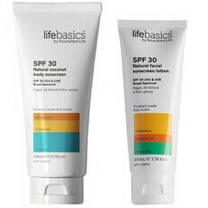 Life Basics SPF 30 Natural Coconut Body Sunscreen