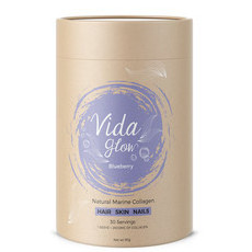 Vida Glow Natural Marine Collagen - Blueberry