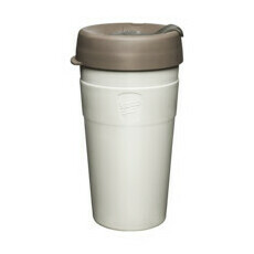 Thermal Stainless Steel Reusable Coffee Cup - Latte