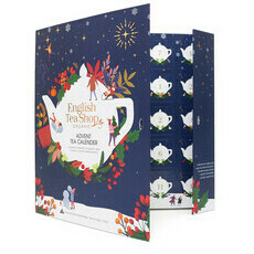 English Tea Shop Book Style Advent Calendar Christmas - Navy